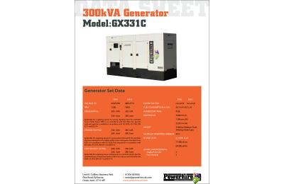 300kVA Generator Hire [Bruno]