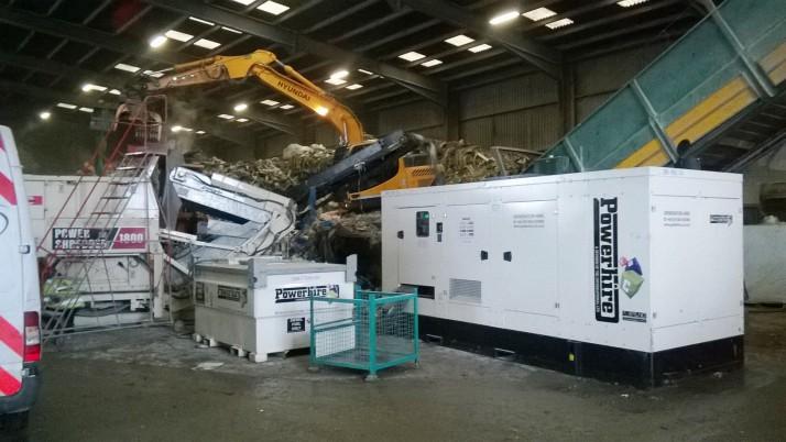 Generator Rental for Recycling Depot