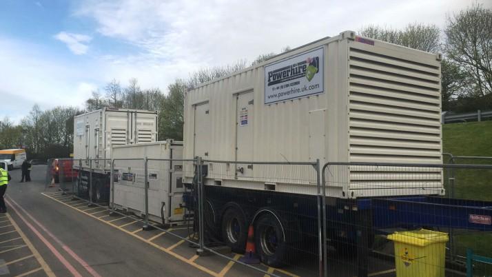 Temporary Generators for Intensive Care Ward