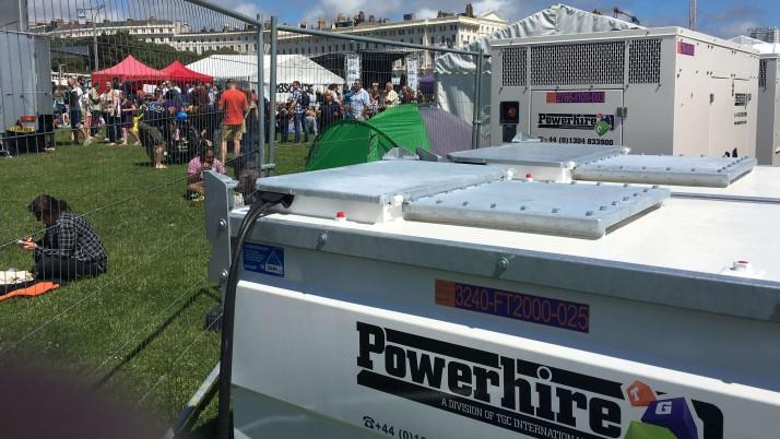 Generator Power for Brighton's Charity Beach Festival